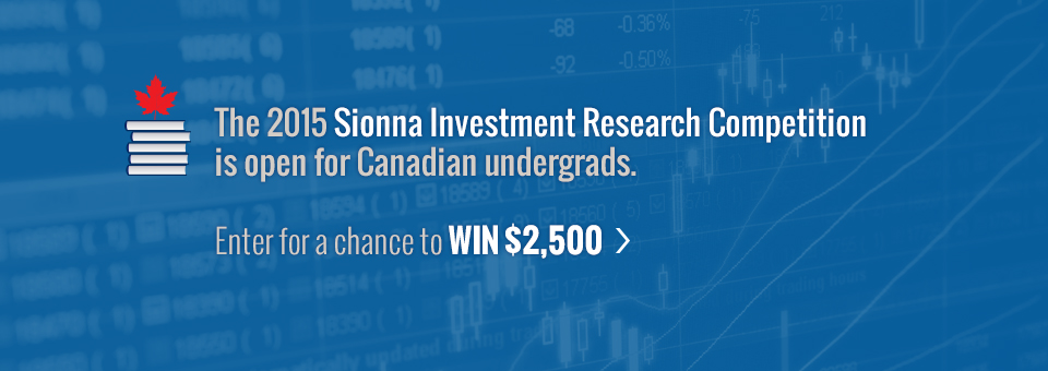 The 2015 Sionna Investment Research Competition